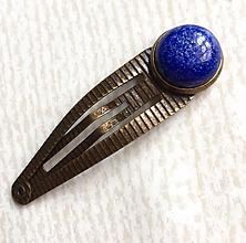 Ozdoby do vlasov - Lapis lazuli Bronze Hairpin / Sponka do vlasov s lazuritom /2050 - 10555712_