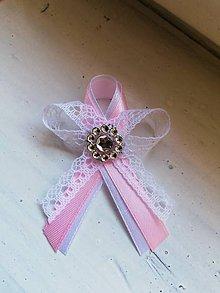 Pierka - Svadobné pierko ružové s čipkou - 10553037_