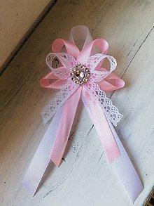 Pierka - Svadobné pierko ružové pre rodičov, svedkov - 10553042_