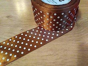 Pierka - Satenová stuha s bodkami 38 mm 1 meter - 10554255_