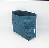 Taštičky - Organizér do kabelky modrý bodkovaný - 10554682_