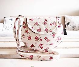 Kabelky - Malá režná kabelka - ruže - 10553995_