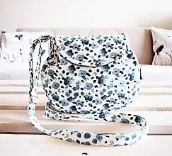 Kabelky - Malá kabelka - modré kvietky - 10554410_