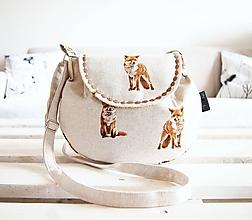 Kabelky - Malá režná kabelka - líšky - 10554539_