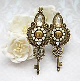 Náušnice - Kľúč k tvojmu ušku :-) /šujtášové vintage náušnice/ - 10554981_