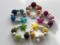 Hračky - Melírové hryzátko Star / Crochet highlights teether Star (Modrá) - 10555375_