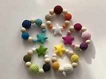 Hračky - Melírové hryzátko Star / Crochet highlights teether Star (Modrá) - 10555378_