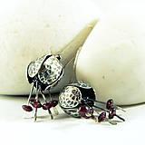 Náušnice - Střibrné náušnice Lusi roztodivná - 10555356_
