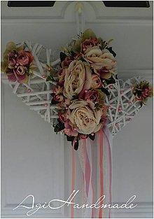 Dekorácie - svadobná dekorácia na dvere - 10553927_