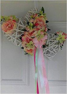 Dekorácie - svadobná dekorácia na dvere - 10553955_