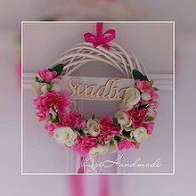 Dekorácie - svadobný venček na dvere - 10554164_
