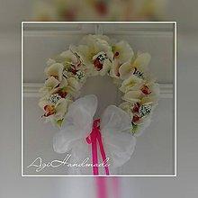 Dekorácie - venček na dvere - orchidei - 10554299_