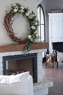 Dekorácie - drevený veniec - 10554412_