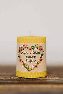 Darčeky pre svadobčanov - Menovka alebo darček pre svadobčanov - Točené -Vzor č.26 - 10553000_