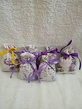 Úžitkový textil - Levanduľové vrecúško - 10555773_