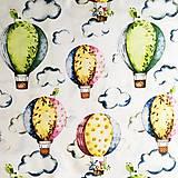 balóny; 100 % bavlna, šírka 160 cm, cena za 0,5 m