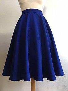 Sukne - modrá kruhová sukňa - 10555889_