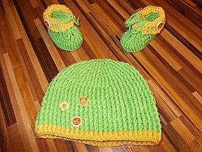Detské súpravy - Súpravička pre bábätko BABY- zelená - 10555232_