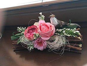 """Dekorácie - Viazanička z prútia- """"Ružový sen"""" s vôňou ruží... - 10555475_"""