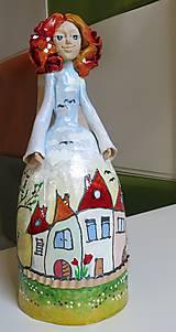 """Dekorácie - """"Dedinka 2"""" - maľovaný zvonec - 10553183_"""