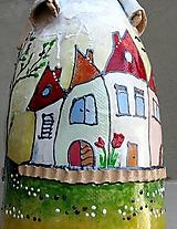 """Dekorácie - """"Dedinka 2"""" - maľovaný zvonec - 10553187_"""