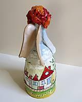 """Dekorácie - """"Dedinka 2"""" - maľovaný zvonec - 10553189_"""