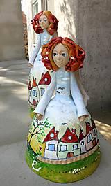 """Dekorácie - """"Dedinka 2"""" - maľovaný zvonec - 10553190_"""