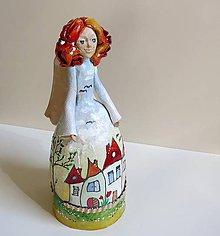 """Dekorácie - """"Dedinka 2"""" - maľovaný zvonec - 10553184_"""