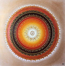 Obrazy - Mandala PROSPERITA (gold) 60 x 60 - 10553755_