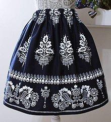 Sukne - Folklórna suknička-dámska - 10553282_