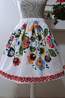 Sukne - Dámska ľudová sukňa... - 10555206_