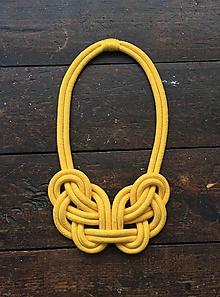 Náhrdelníky - Mohutný žlutý - 10555985_