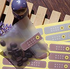 Papier - NA116 Nálepka hand made (6 ks) - 10554513_