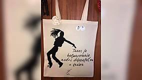 Iné tašky - ♥ Plátená, ručne maľovaná taška ♥ - 10553051_