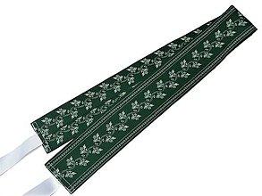 Opasky - Folk Opasok 5.5cm Obojstranný Zelený - 10553912_