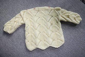 Detské oblečenie - Ľahučký pulóvrik s čiapočkou - 10554062_
