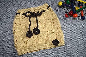 Detské oblečenie - Pletená suknička - 10554411_