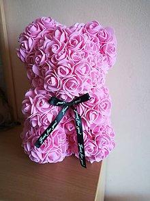 Dekorácie - Ružový medvedík - 10555624_