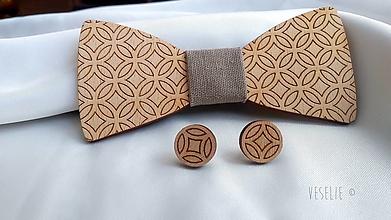 Iné šperky - Dámsky motýlik s náušnicami - Urban circle - 10555073_
