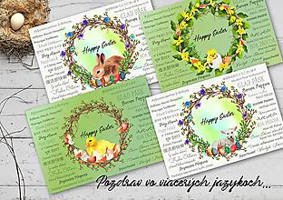 Papiernictvo - Veľkonočný pozdrav / pohľadnica (Klasik - viacjazyčné) - 10555469_