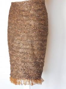 Sukne - Bouclé plstená sukňa