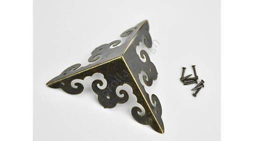 Kovový roh na krabičky Zina 7x7cm/4ks