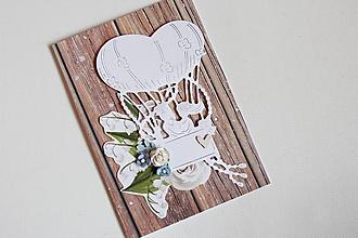 Papiernictvo - Svadobná pohľadnica - 10555984_