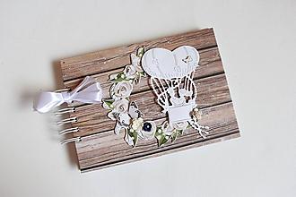 Papiernictvo - Kniha hostí - s vetrom vo vlasoch - 10556012_