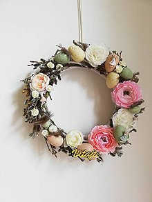 Dekorácie - Veniec ružový 40cm - 10553571_