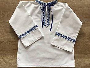 Detské oblečenie - Chlapčenská folklórna košieľka - 10554389_