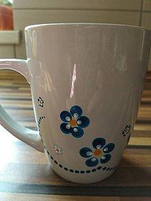 Nádoby - Modré kvety - 10554650_