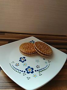 Nádoby - Modré kvety dezertný tanier - 10555224_