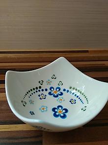 Nádoby - Modré kvety miska - 10555272_