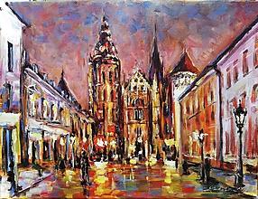 Obrazy - Košice večer - 10554882_